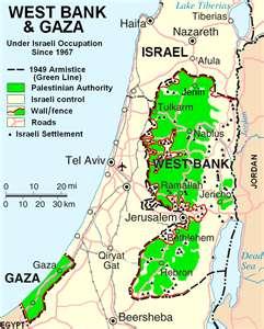 Disputed territory of Biblical Judea and Samaria